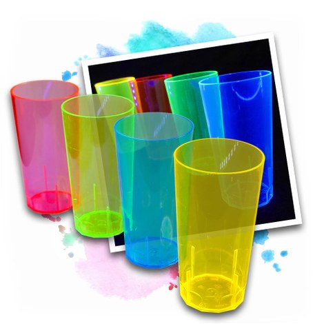 20 Neon UV Cups 250 ml