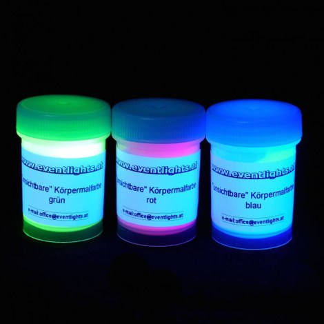 Invisible UV body paint 3 x 25 ml