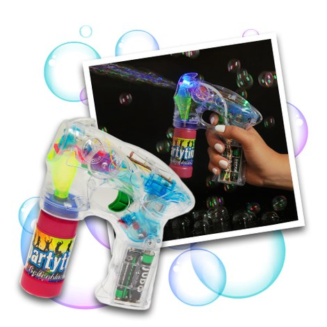 LED soap bubble gun